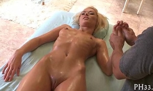 Satisfying babe in the air oil massage