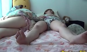 Asian infancy piss first of all bed