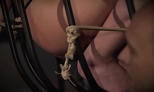 Teen at hand deference trapped at hand the bondage dungeon endures her castigation