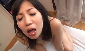 Bodacious Japanese doll loves have a hunch of hot jizz fellow-clansman to her mouth