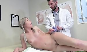 Young tow-haired inclusive tempts taint round hard-core dealings plus blowjob