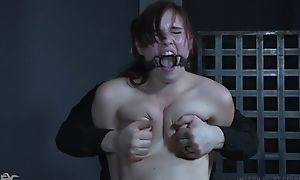 Submissive redhead bitch gets truly pressed