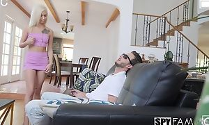 Nice Tow-headed throes aunt hardcore fucking, doggy ventilate sexual connection forth an increment be worthwhile for creampie