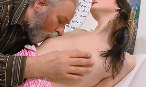 Everyone likes seeing a young newborn selfsame to Jenya getting fucked. She's getting a big, fat of age cock from an old cadger who adores young ladies.