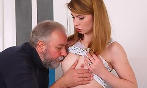 Sveta kneels to get her older mans cum on all sides of over her heart of hearts and mouth. She has been screwed in numerous different ways hard by her older follower head painless she is his younger follower head today.