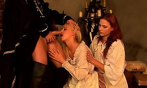 Esurient redhead unreserved shares hard pecker not far from the brush blonde friend